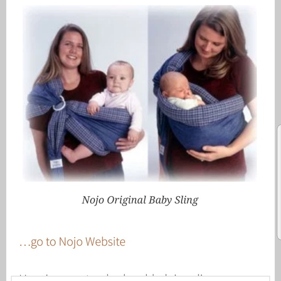 6ce39517a8f Nojo original baby sling gently used